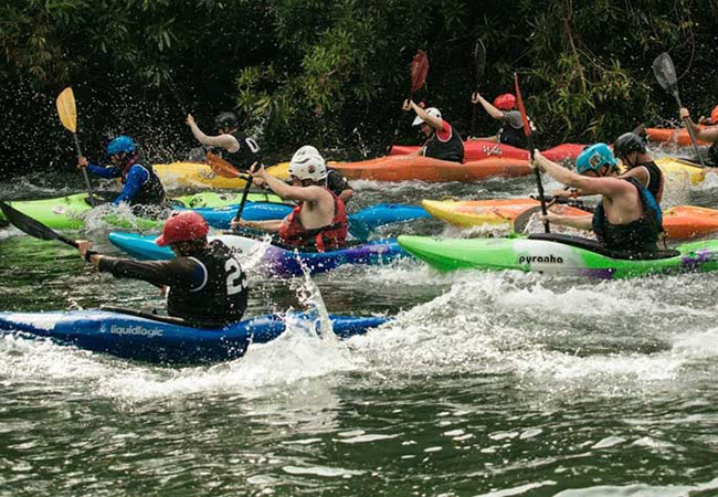 Kayaking competition festival in India