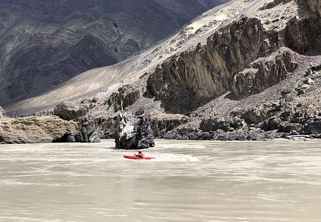 Kayaking in River Zanskar near Leh