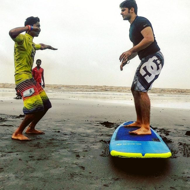 Learn surfing near Mumbai