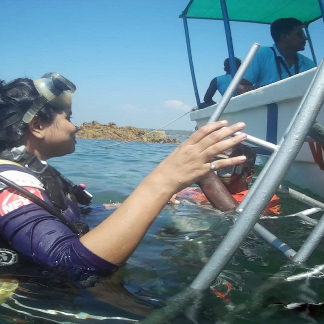 Experience Scuba diving near the isolated light house of Tarkarli