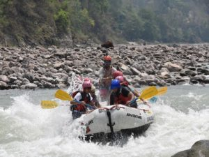 Experience a thrilling rafting adventure with friends and family