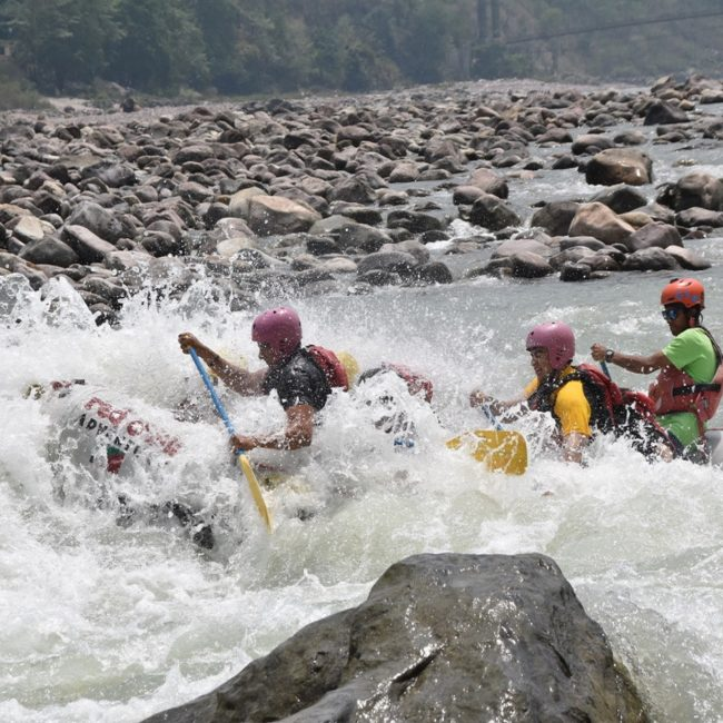 Experience river Rafting in Byasi near Rishikesh