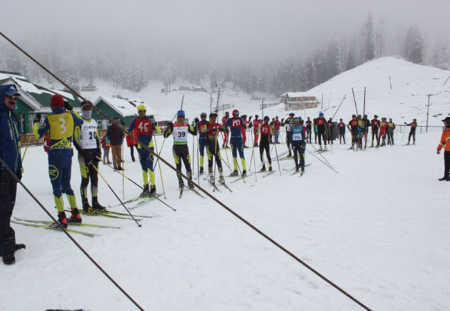 Skiing competition festival in India