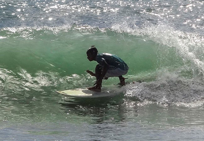 Surfing in Kovalam near Kerala