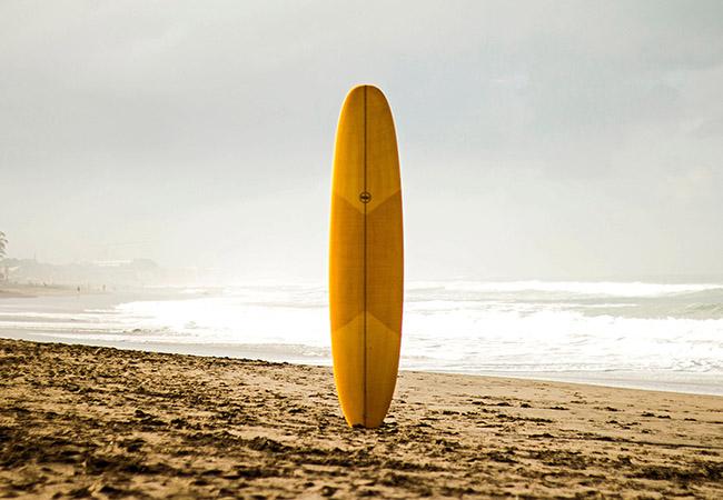 Surfing surfboard