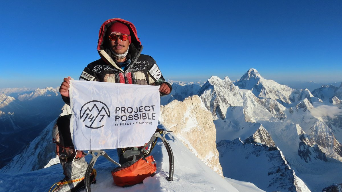Nirmal Purja climbs all eight thousand meter peaks